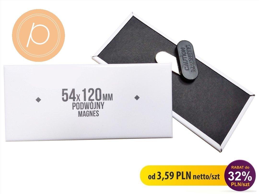 Przypinka prostokątna 54x120mm - zapięcie magnetyczne