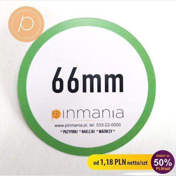 Eco friendly badge - 66mm